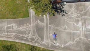 نقاشی حیرت انگیز با آب