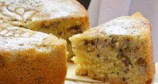 کیک موز و گردو